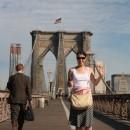 Káťa na Brooklyn Bridge